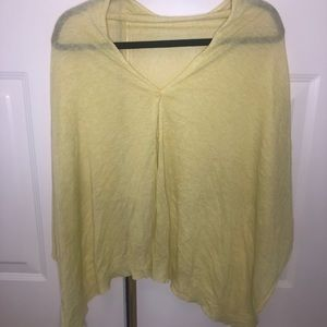 Jacob Yellow Thin Buttoned up Cape/ Cardigan
